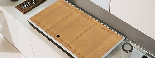 Coprilavello in legno per lavello da cucina