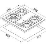piani-cottura-da-incasso-elleci-plano-60-tcl-metaltek-79-aluminium-pmsp60179ws